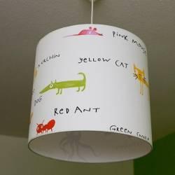 bedrukte hanglamp op stof carina