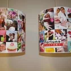 Fortune factory bedruckte Lampenschirme