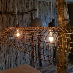 Lamp roest boomstam