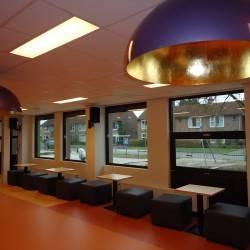 Hochglanz Halbkugel lampe mit Blattgold