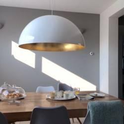 Hochglanz Weisse Halbkugellamp