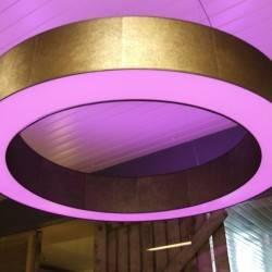 Donut Lampenschirm mit RGB Beleuchtung