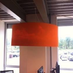Bedruckter Lampenschirm, Innenseite bedruckt!